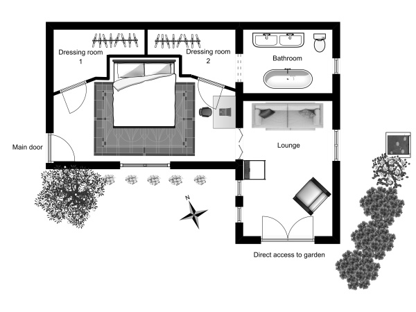 St Honorat floor plan